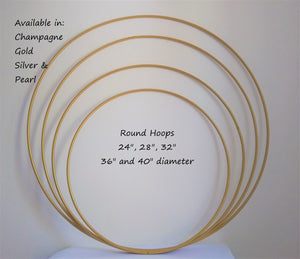 "32"" metal hoop for cake stand or single use"