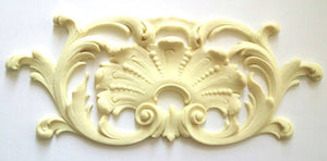 Calais shell and leaf cartouche and frame silicone mold