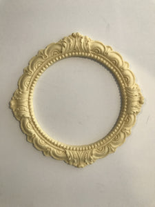 Round Victorian frame silicone mold