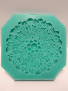 Empire rosette silicone mold