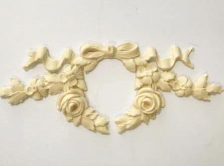Veronica open Floral Wreath with Bow silicone mold