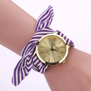 Floral Cloth Watch