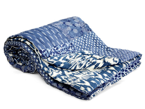 Jodhaa Doubles cotton Quilt/ Razai in Patchwork design   12RZDA041