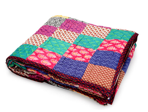 Jodhaa Doubles cotton Quilt/ Razai in Patchwork design   12RZDA042