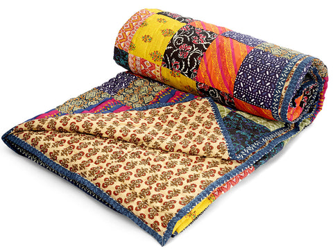 Jodhaa Doubles cotton Quilt/ Razai in Patchwork design   12RZDA044