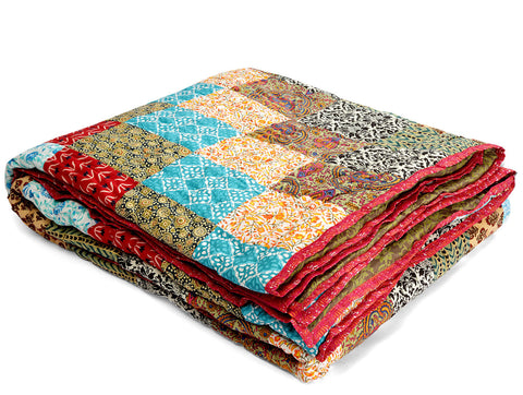 Jodhaa Doubles cotton Quilt/ Razai in Patchwork design   12RZDA045