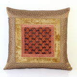 Jodhaa Cushion Cover with Velvet/Brocade in Beige/Gold    21CCVA014