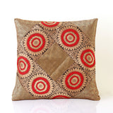 Jodhaa Cushion Cover with Brocade in Red/Gold/ Black    21CCVA016