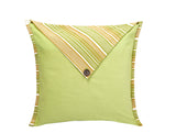 Jodhaa  Cushion Cover in Lemon Color Stripes  21CCVA037