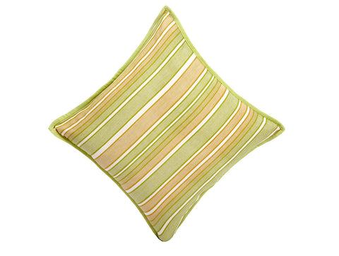 Jodhaa Large  Cushion Cover in Lemon Color with Stripe Design  21CCVA039