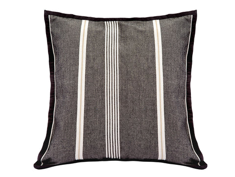 Jodhaa  Cushion Cover in Black / White Color Stripes  21CCVA042