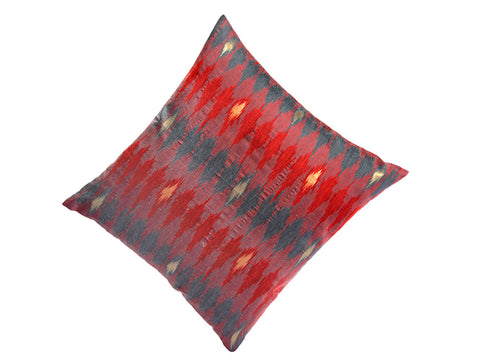 Jodhaa  Cushion Cover in Red Color Ikat design  21CCVA043