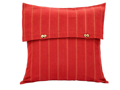 Jodhaa  Cushion Cover in Rust Color Stripe  21CCVA048