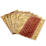 Jodhaa Table mats set of 8 in Beige and Gold   21TBMA039
