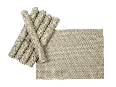 Jodhaa Table mats set of 6 in Grey Color  21TBMA074