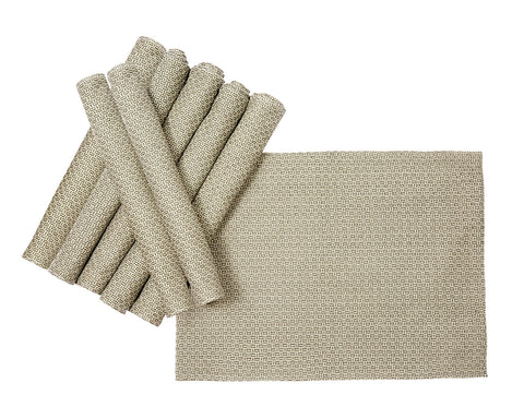 Jodhaa Table mats set of 8 in Grey Color  21TBMA075