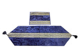 Buy Online Designer Table Runner in Velvet and Brocade - Royal Blue