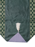 Jodhaa brocade green color table runner- Large 21TBRA106