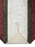 Jodhaa brocade & velvet white color table runner with multicolored brocade borders - Large - 21TBRA108