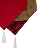 Jodhaa brocade & velvet maroon color table runner - medium  21TBRA111