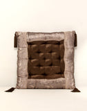 Designer Cushion in Velvet with Flower border from Jodhaa