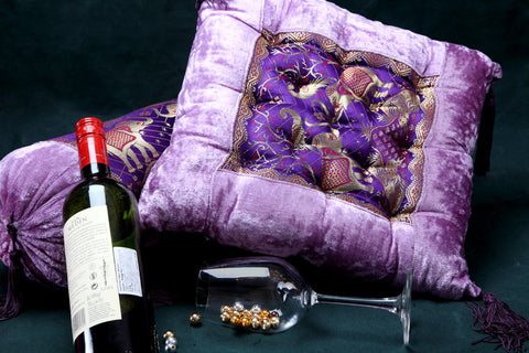 Designer Cushion in Velvet and Brocade at Jodhaa India