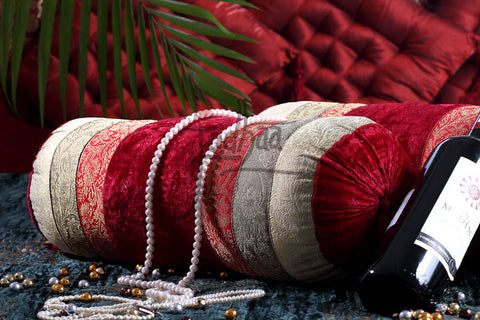 Designer Velvet Bolster from Jodhaa India