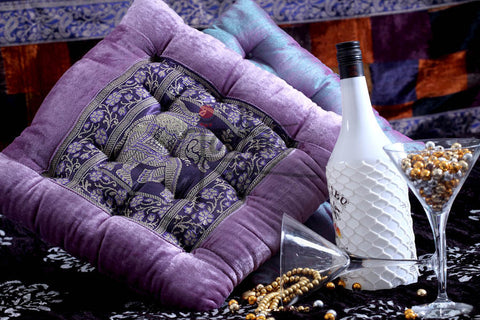 Designer Cushion In Velvet and Brocade by Jodhaa