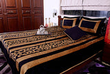 Jodhaa Double bed cover set in Black / gold applique  11BSTA022