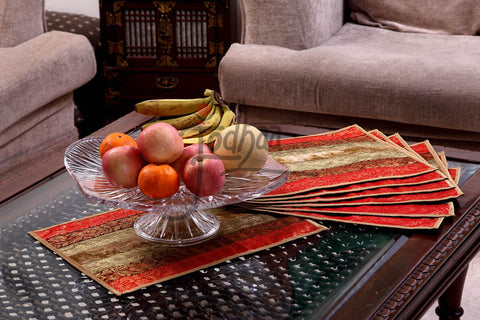 Designer Set of 8 table mats in Maharani design by Jodhaa