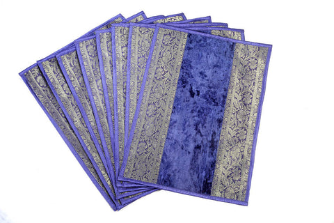 Jodhaa Table Mats set in Royal Blue     21TBMA033