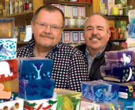 Chuck Bauer & Chuck Beckwith: The Soap Opera duo work hard at old-fashioned customer service