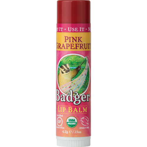 Badger Organic Lip Balm .15oz 4.2g - Pink Grapefruit