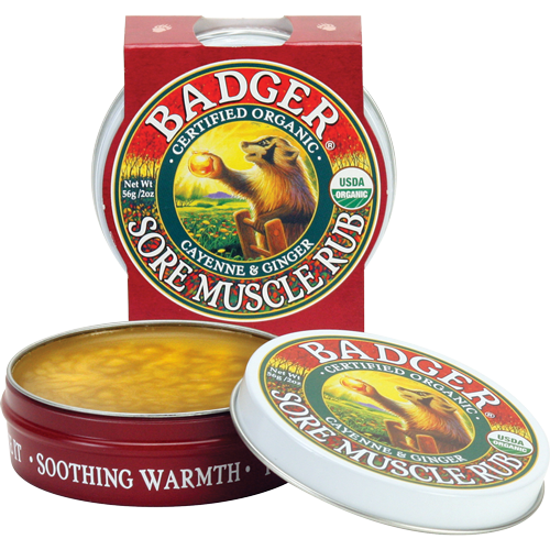 Badger Organic Sore Muscle Rub 2oz 56g - Cayenne & Ginger