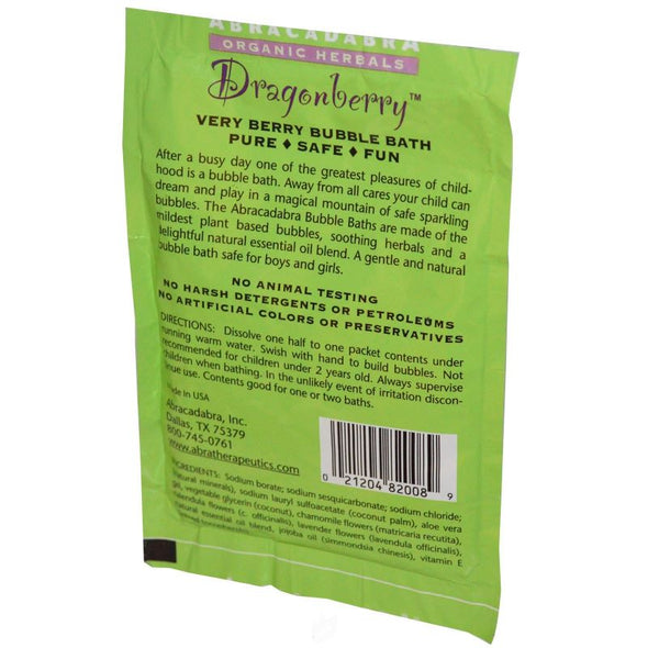 Abra Therapeutics Children's Bubble Bath Packet 2.5oz - Dragonberry