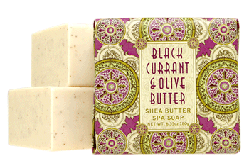 Greenwich Bay Shea Butter Bar Soap 6.35oz 180g - Black Currant & Olive Butter