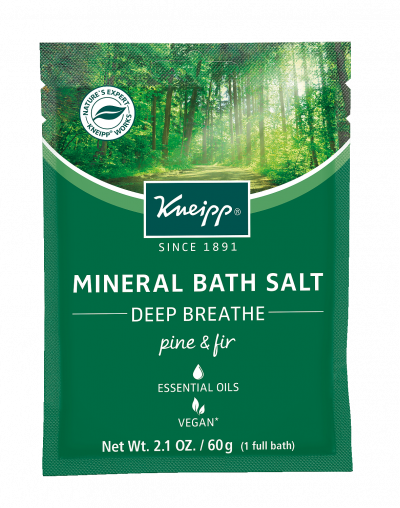 Kneipp Mineral Bath Salt Packet 2.1oz 60g - Deep Breathe Pine & Fir