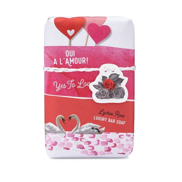 Mistral Sentiments Gift Soap 7oz 200g - Oui A L'Amour! Yes to Love