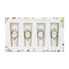 Mistral Set of 4 Hand Cream Gift Set Lychee Rose, South Seas, Verbena, and Lavender 1 oz