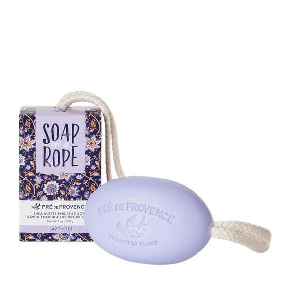 Pre de Provence Shea Butter Soap on a Rope 7oz 200g - Lavender