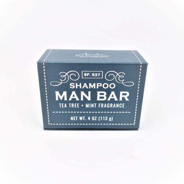 San Francisco Soap Company MAN BAR Solid Shampoo 4oz 113g - Tea Tree & Mint