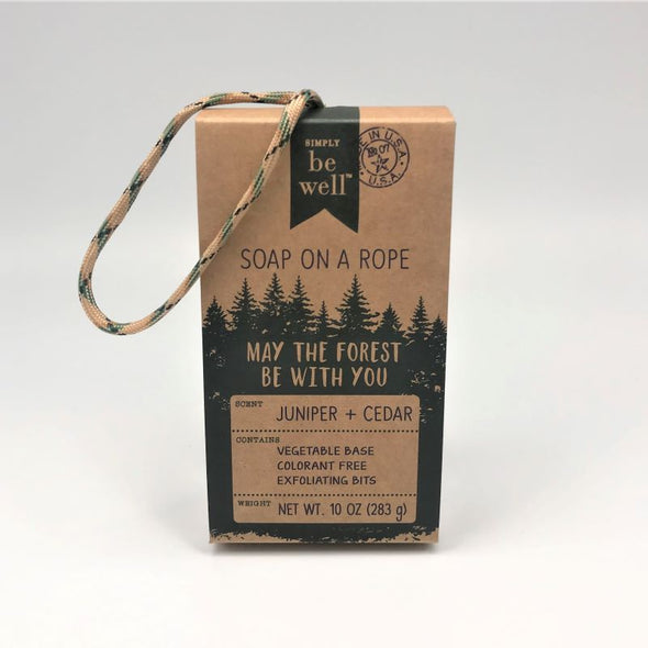 Simply Be Well Para Cord Rope Bar Soap 10oz 283g - Juniper & Cedar