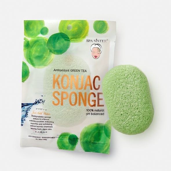 Spa Sister Konjac Sponge - Green Tea