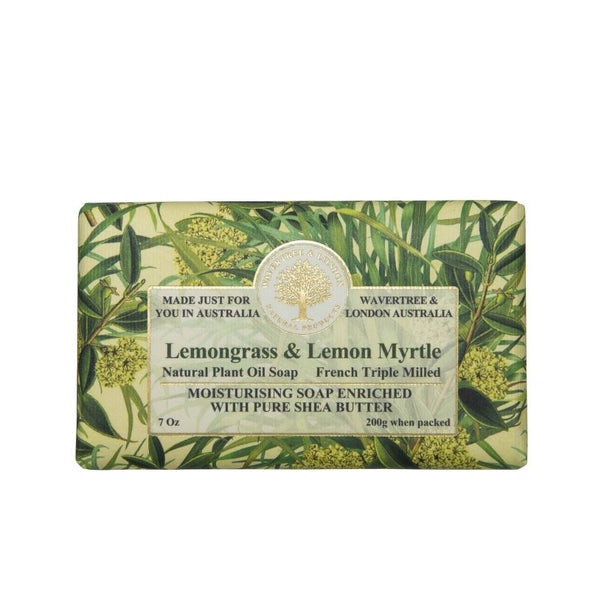 Wavertree & London Triple Milled Bar Soap 7oz 200g - Lemongrass & Lemon Myrtle