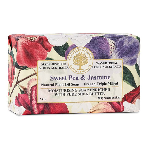 Wavertree & London Triple Milled Bar Soap 7oz 200g - Sweet Pea & Jasmine