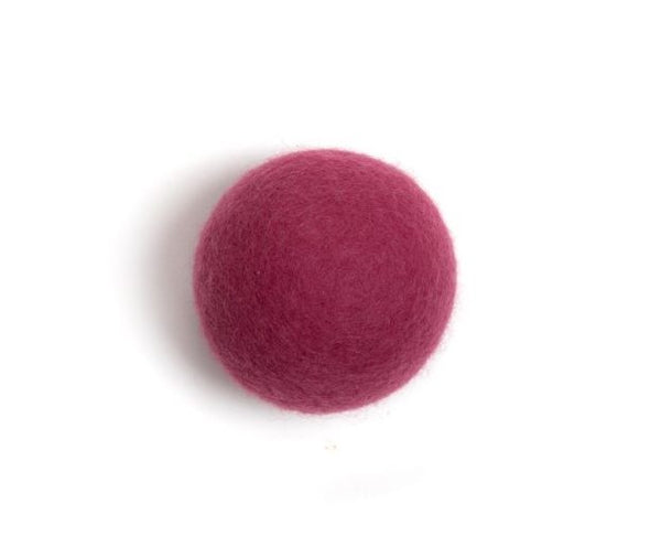 Woolzies Wool Dryer Ball Natural Fabric Softener - Pink
