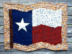 Fractured Flag - Texas Our Texas - Quilt Pattern by Cross Mountain Stitchery Kit