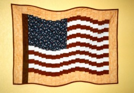 Fractured Flag - USA - Quilt Pattern by Cross Mountain Stitchery Kit