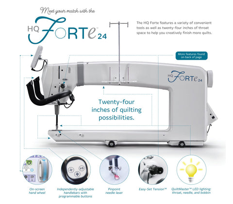 Handi Quilter HQ Forte Top Features