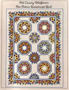 Hill Country Wildflowers Kaleidoscope Quilt Kit Large (Out of Stock, Still Available on Back Order)